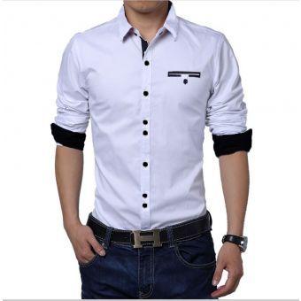 Camisa Hombre Diseño - Blanco
