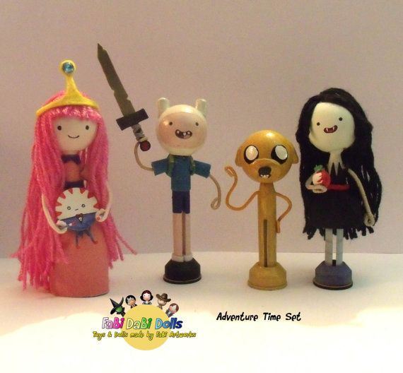 FaBi DaBi Dolls - The Adventure Time Set    The Perfect set of dolls to help bring the Famous Tv show Adventure Time to life, awaken imaginations s or simply collect and love!