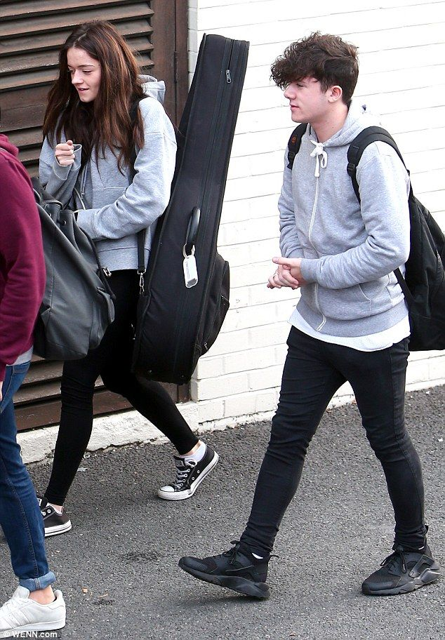 Seeing double: Emily Middlemas, 18, and Ryan Lawrie, 20, proved they're so close that they've even started dressing like each other as they headed into X Factor rehearsals  on Friday