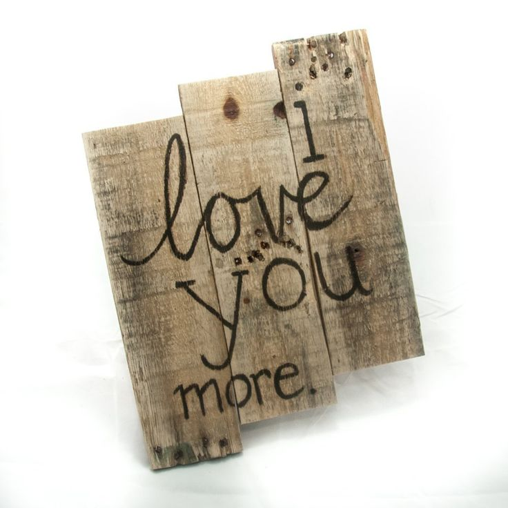 "Valentine's Day gifts Gift for her Anniversary gift Gift for women Love decor Bedroom decor I love you more Love signs Gift for girlfriend. • Handcrafted and painted by North Carolina artisans • Created with naturally distressed, reclaimed wood • A great gift for an anniversary, wedding, or just because! • Dimensions: 15"" x 11"" **This item is made to order. Some variation in color will occur depending on the wood available."