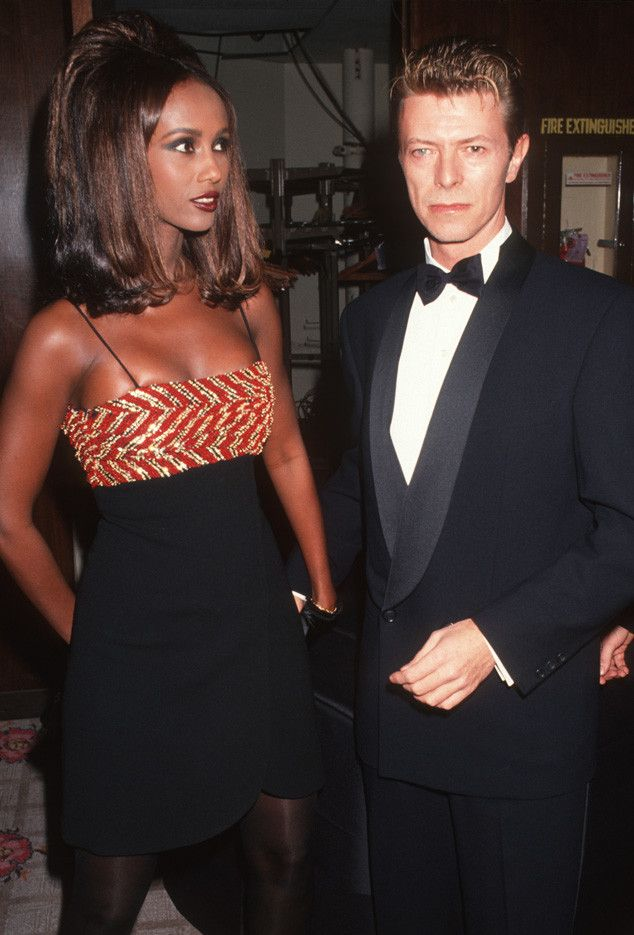 Sexy Duo from David Bowie: A Life in Pictures  David Bowie set the music and modeling world on fire when he coupled up with supermodel, Iman, in the early '90s.Hewould go on to marry Iman in 1992, his second marriage.