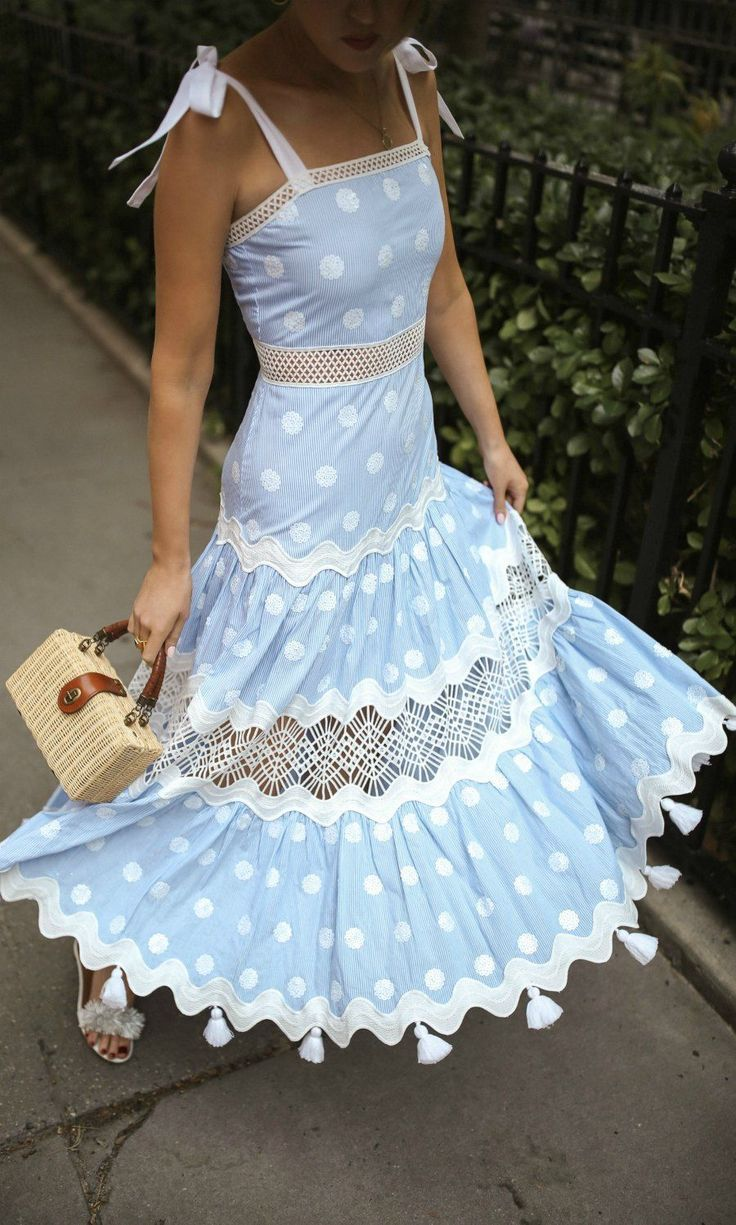 20 Dresses in 20 Days   Day 20 Fathers Day // Light blue polka ...
