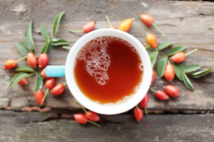 Отвар шиповника – отличный источник полезных веществ в холодное время года. Готовится он из сушёных плодов. Если потом настоять отвар и смешать с корнем имбиря, как в рецепте Андрея Тимофеенко, бар-менеджера ресторанов Ceretto, получится настоящая витаминная бомба. Вкуснейший горячий напиток! И заметьте, совсем без сахара и кофеина.