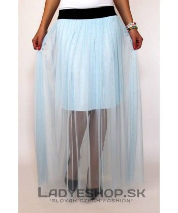 Dlhá sukňa modrá