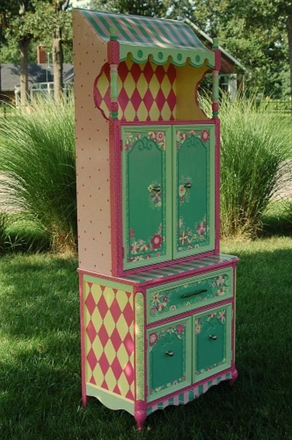 Painted girl's armoire...