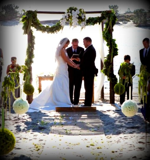 Wood Wedding Altar Canopy Rentals Los Angeles Orange