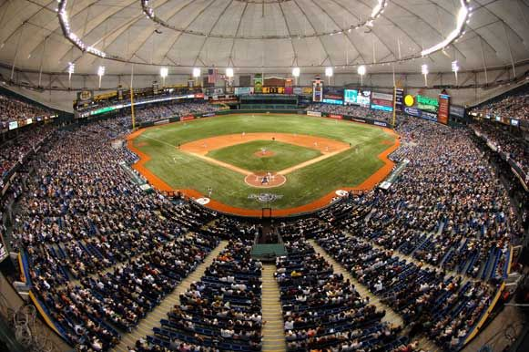 Tropicana Field - Home of the Tampa Bay Rays...got to see Josh Reddick play for the RED SOX here.  A highlight...fosho!