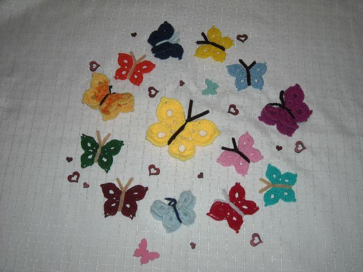 Horgolt pillangók