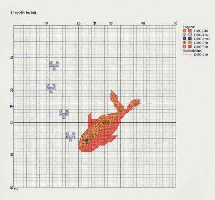 luli: Counted Crosses Stitches, Embroidery Crosses, 825 768 Pixel, Aww Goldfish, Goldfish Embroidery, Crosses Stich, 05Cross Stitches, D Aprile, Fish Xstitch