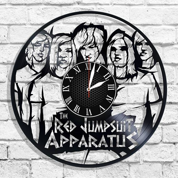 The Red Jumpsuit Apparatus rock band wall clock The Red