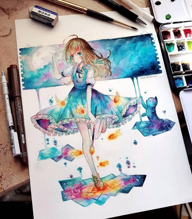 алиса и малинький чишир   Милые рисунки, Рисунки, Мультипликационное  искусство