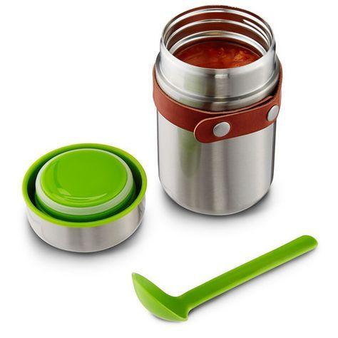Avec le Food Flask, fini les repas froid au travail ou à l\\\'école. Le themos est en acier inoxydable de haute qualité. Il est également équipé d\\\'une cuilliè...
