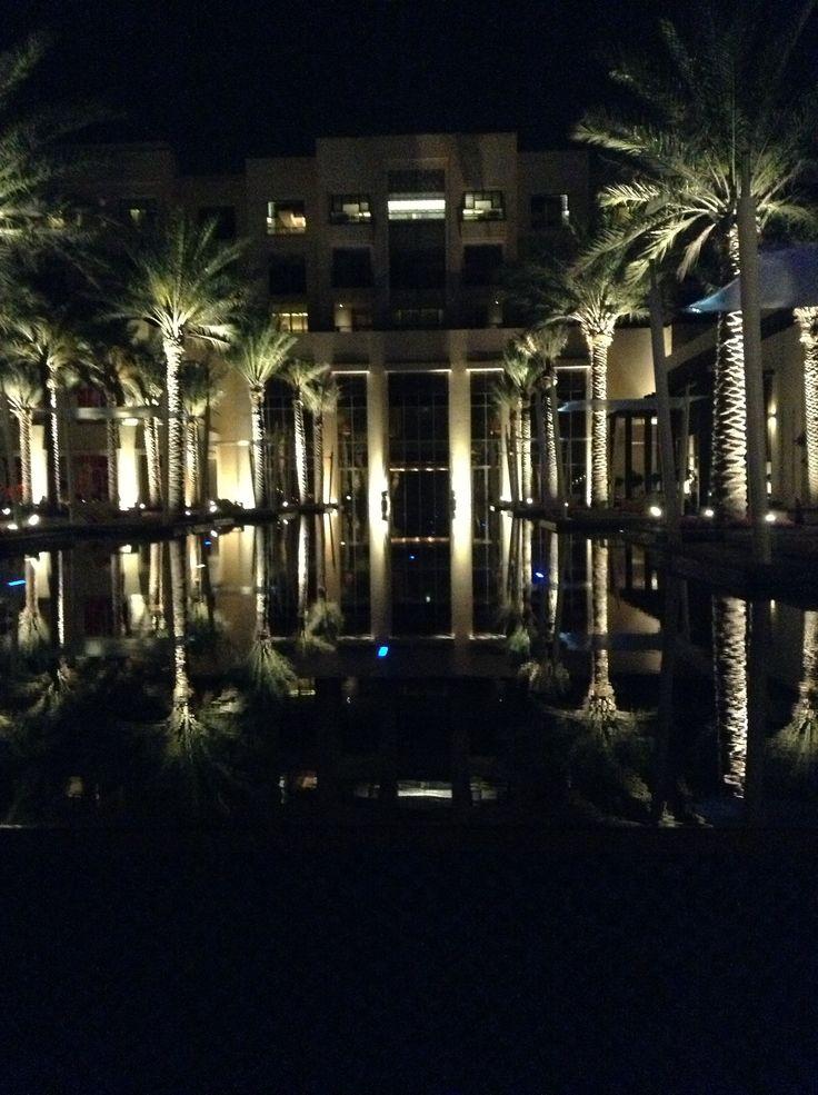 The pool at night. Abu Dhabi.
