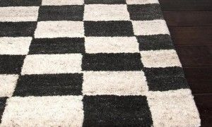 Black and White Checkered Rugs