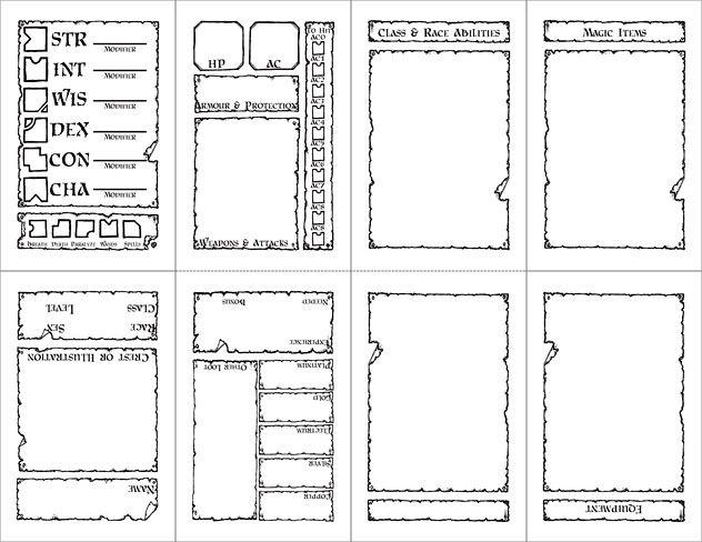 Character Sheets Dnd Character Sheet Character Sheet Rpg Character Sheet