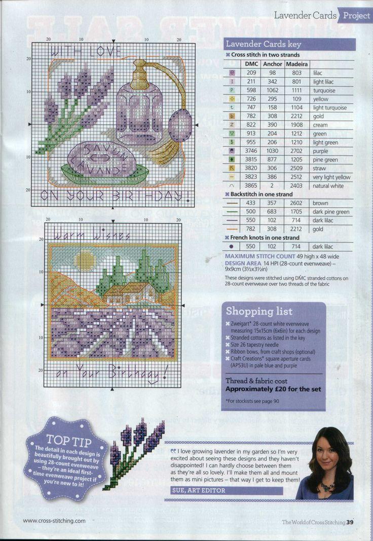 Susan Bates Lavender cards 1