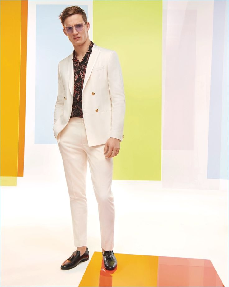 Suiting up for summer, Julian Schneyder connects with River Island.