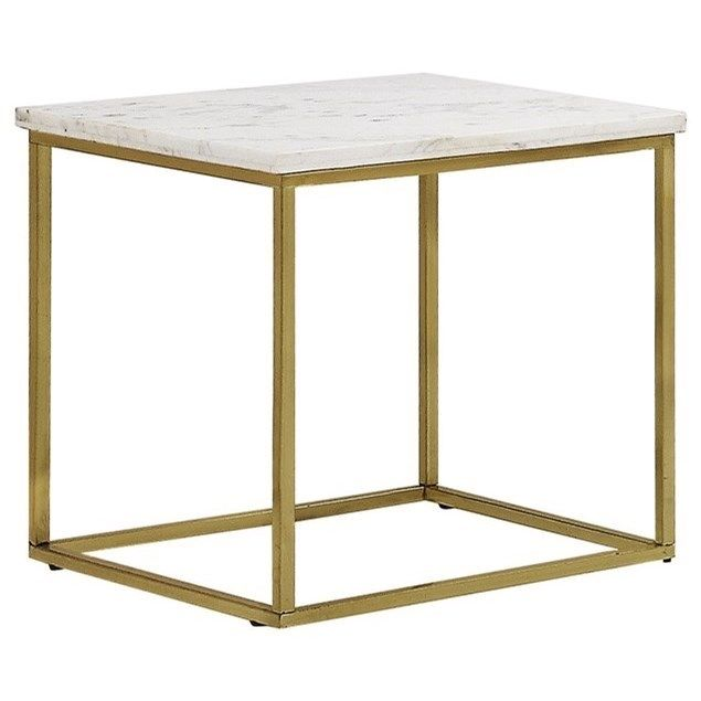 Isabelle Marble Top End Table  White. 183 best 2017 Living Room images on Pinterest   Renting  Accent