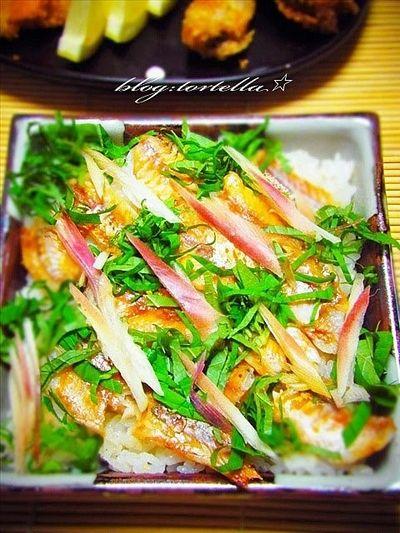 カブ子の夏とカマス青紫蘇ごはんwith小魚料理♪ by やちゃmaruさん ...