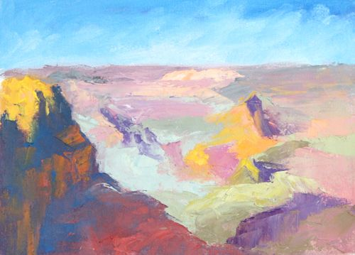 Grand Canyon Color Study #1, Oil, 9in x 12in
