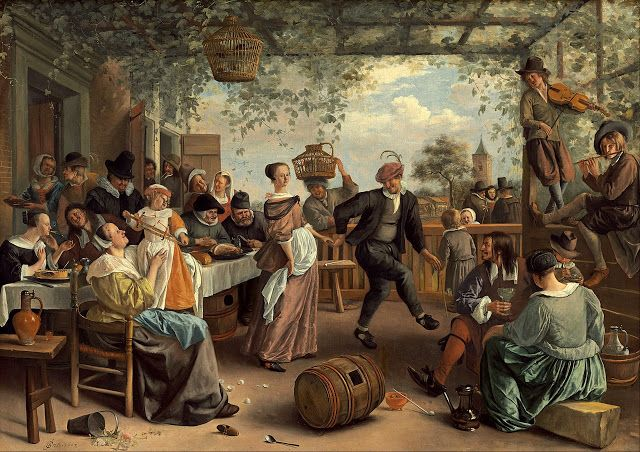 Jan Steen, Couple Dance, 1663