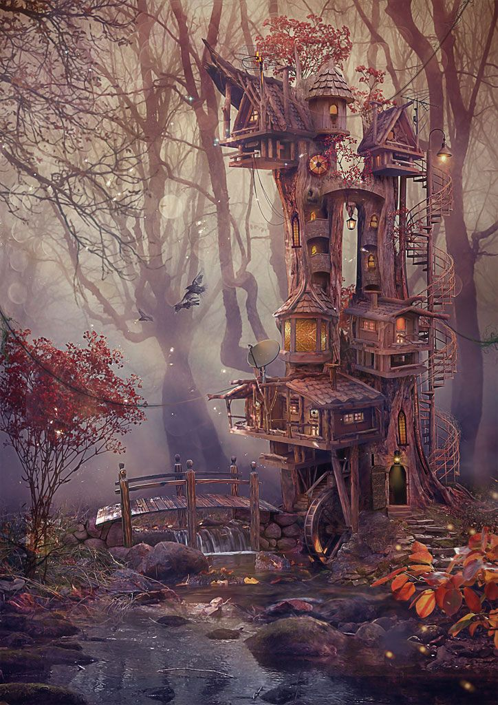 Lodge in the wood by Vasylina on deviantART