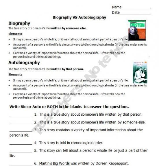 11 best 6th grade autobiography images on Pinterest - autobiography template