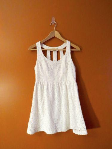 FOREVER-21-XXI-Junior-White-Dress-Size-M