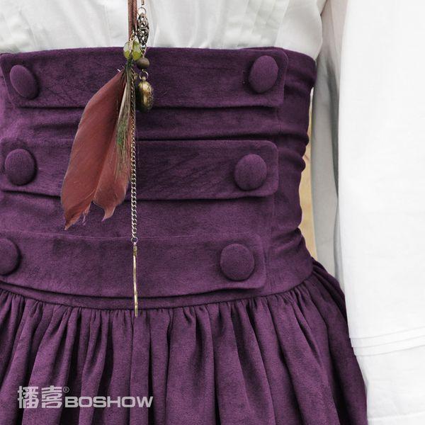 Hi broadcast BOSHOW (chivalry) 2014 Hitz female waist palace big swing skirt bust 2 colors