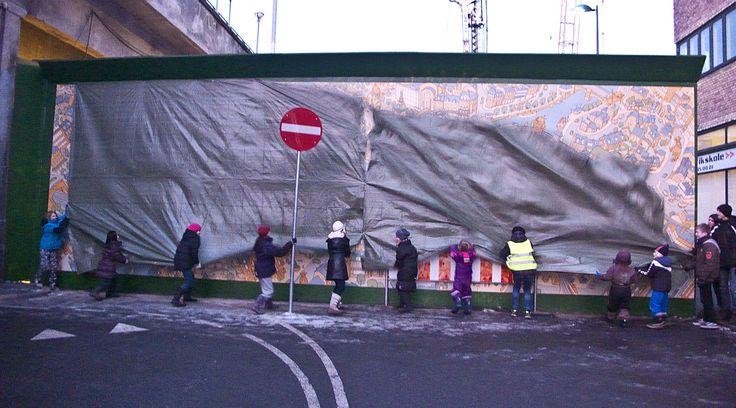 Vernissage of metro mural.