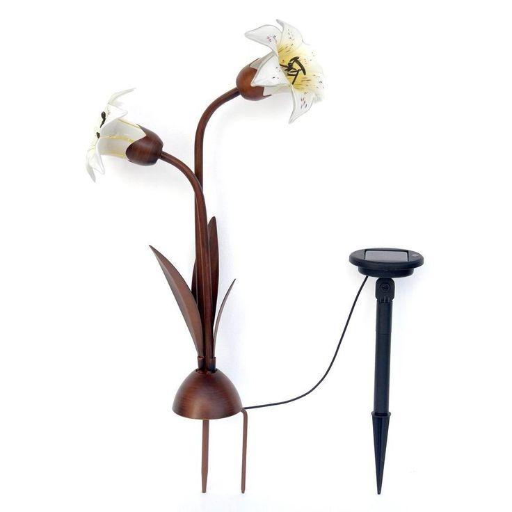 Trendscape Solar 2 Light Bronze Easter Lily Light Nxt 8117