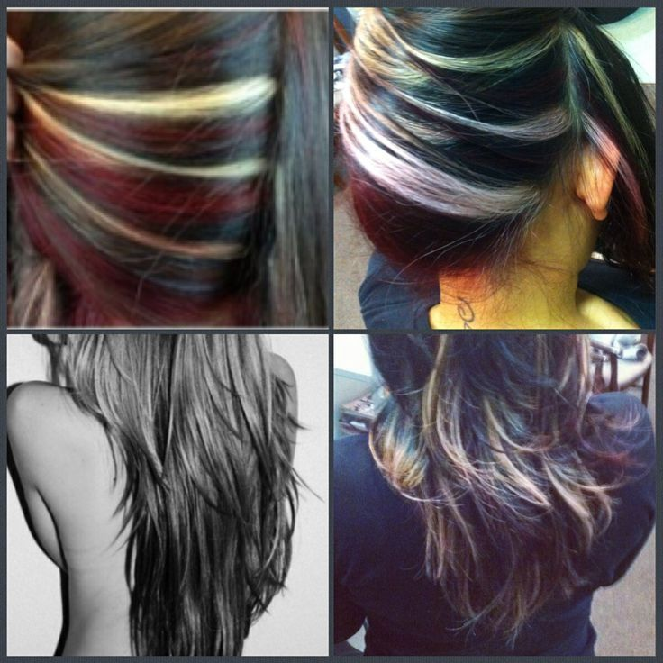 The 25 best blonde peekaboos ideas on pinterest blonde my client brought in the pics on the ledt and the final product on her on the right for color it was a red platinum blonde peekaboos highlights w a pmusecretfo Gallery