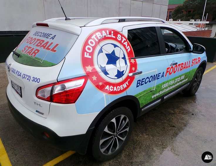 Soccer, Training, Coaching, Football Star Academy, Franchise, Sport Vehicle Wrap, Sport Branding
