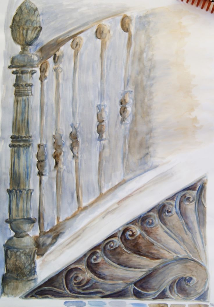 """""""Casa Bossi"""" by Alessandro Antonelli - sketch #4 - watercolour on paper"""