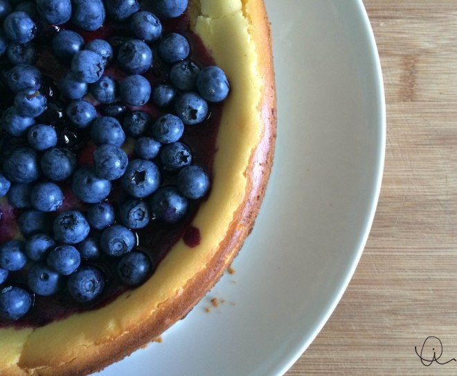 all-TIM-ate blueberry cheesecake