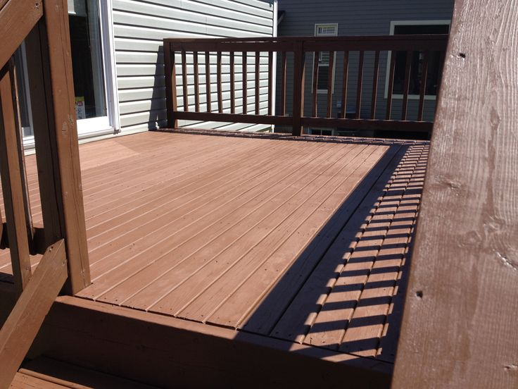 Back deck stained