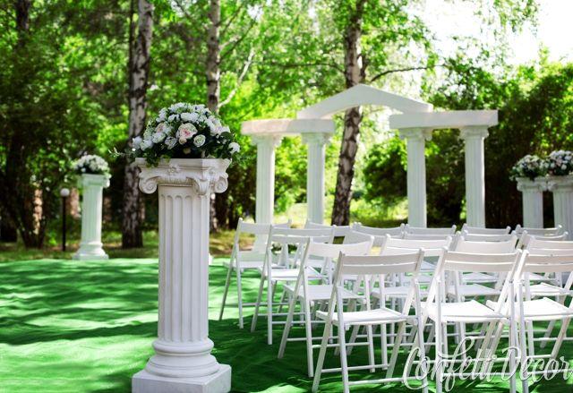 Аренда колонн на свадьбу | Конфетти Декор