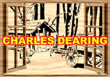 A barely standing shack and wagon sit outside open windows from Scroll Saw Pattern designer Charles Dearing.