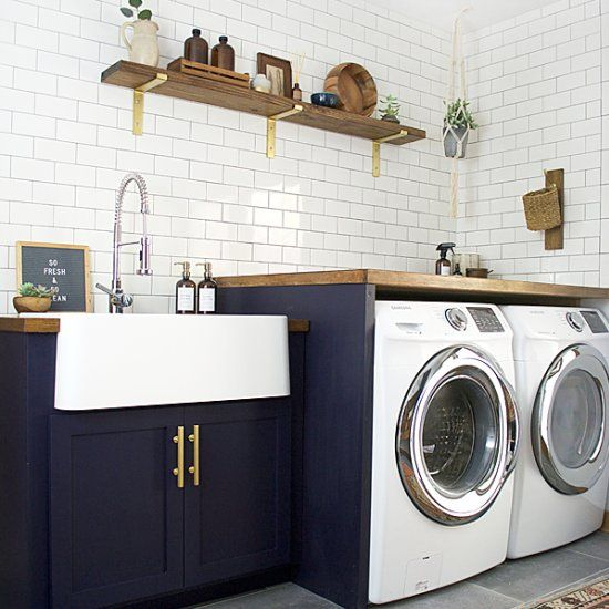 Serendipity Refined Blog Contemporary Apartment Small Bath Makeover: 1000+ Ideas About Modern Laundry Rooms On Pinterest