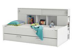 Lit combiné en bois SHERYL pas cher avec lit tiroir et rangements Couchage 90x200cm prix Lit Enfant Delamaison 339.00 €