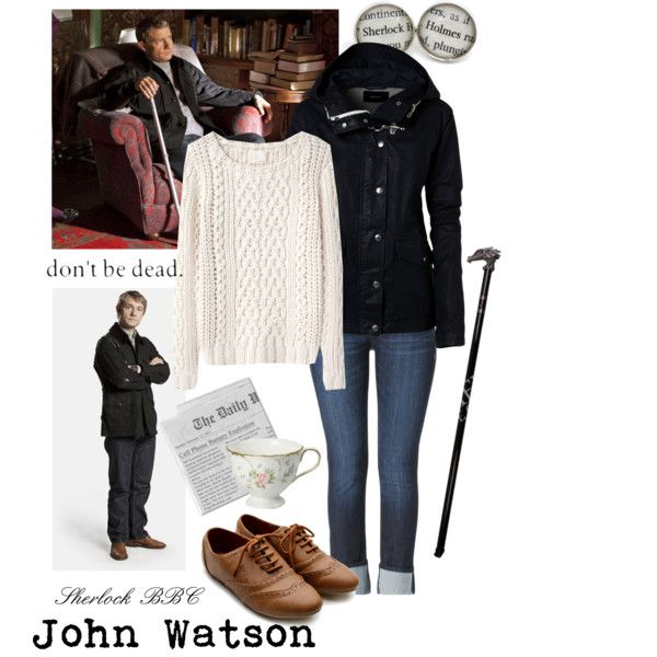 John Watson - not gonna go around with a cane or walking stick, but the rest of the outfit looks cozy!