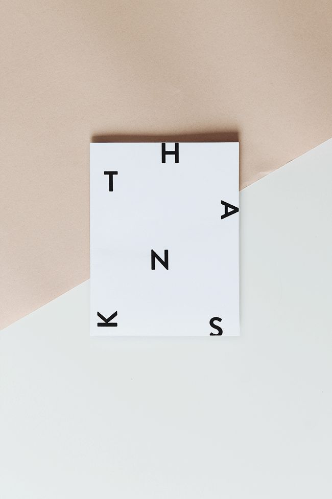i find myself buying thank you card sets every time they're inexpensive and cute — so i wanted to design a cute little modern thank you card to print at your leisure! we all need to get…