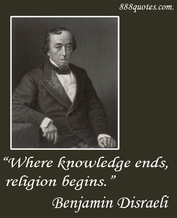 Image result for Benjamin Disraeli religion begins