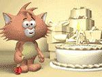 ¡Un estupendo salvapantallas de Cumpleaños del Gato totalmente gratuito!