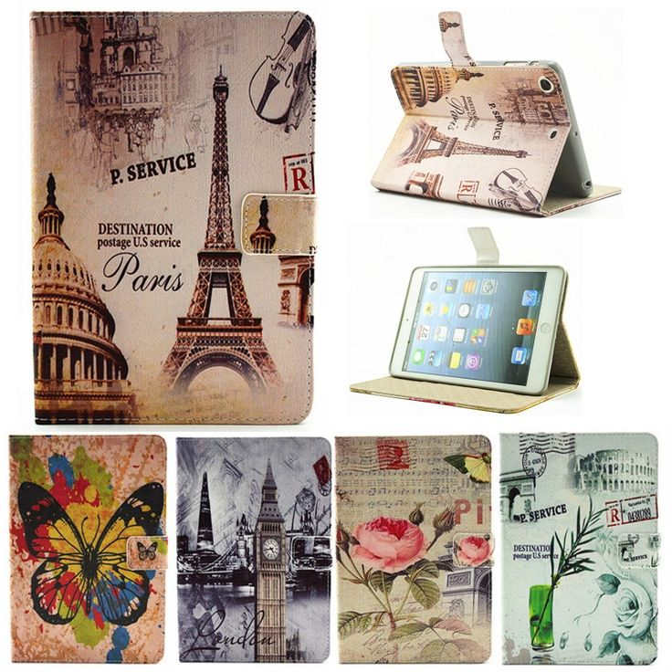 12.35$  Buy here - http://ali6oh.shopchina.info/go.php?t=32751782735 - For Ipad 2 3 4 Paris Eiffel Tower Flower PU Leather Case For Apple iPad2 Ipad3 Ipad4 Case Stand Protector Skin Tablet Cover 12.35$ #magazineonline