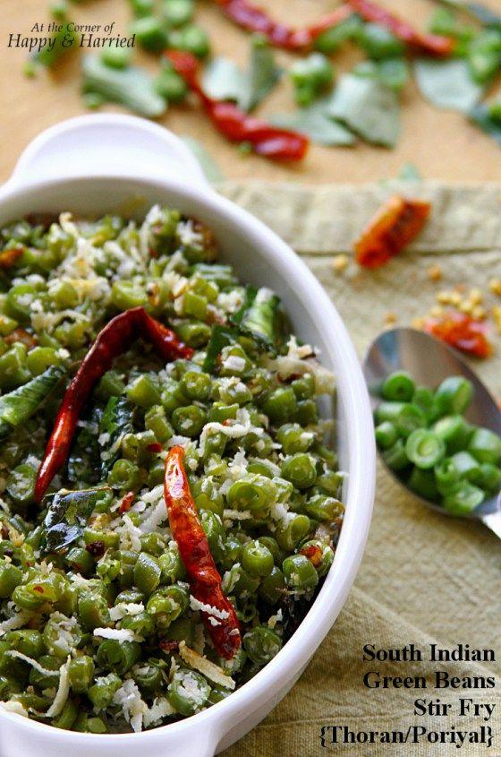 South Indian Green Beans Poriyal Or Thoran (Stir Fry)