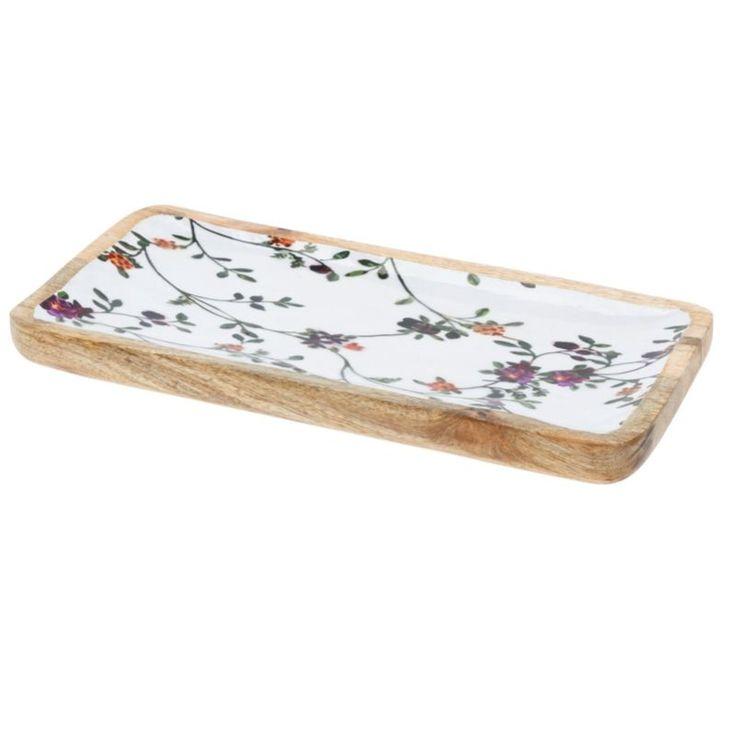 Margaret II. virágos lapos tálaló tál Decorative tray