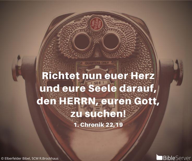 Nachzulesen auf BibleServer | 1. Chronik 22,19
