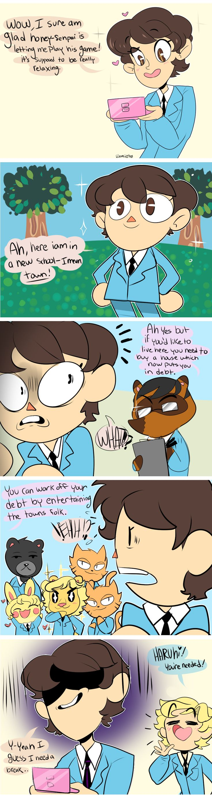 Ouran High School Host Club meets Animal Crossing - I read every speech bubble in each character's voice O_o
