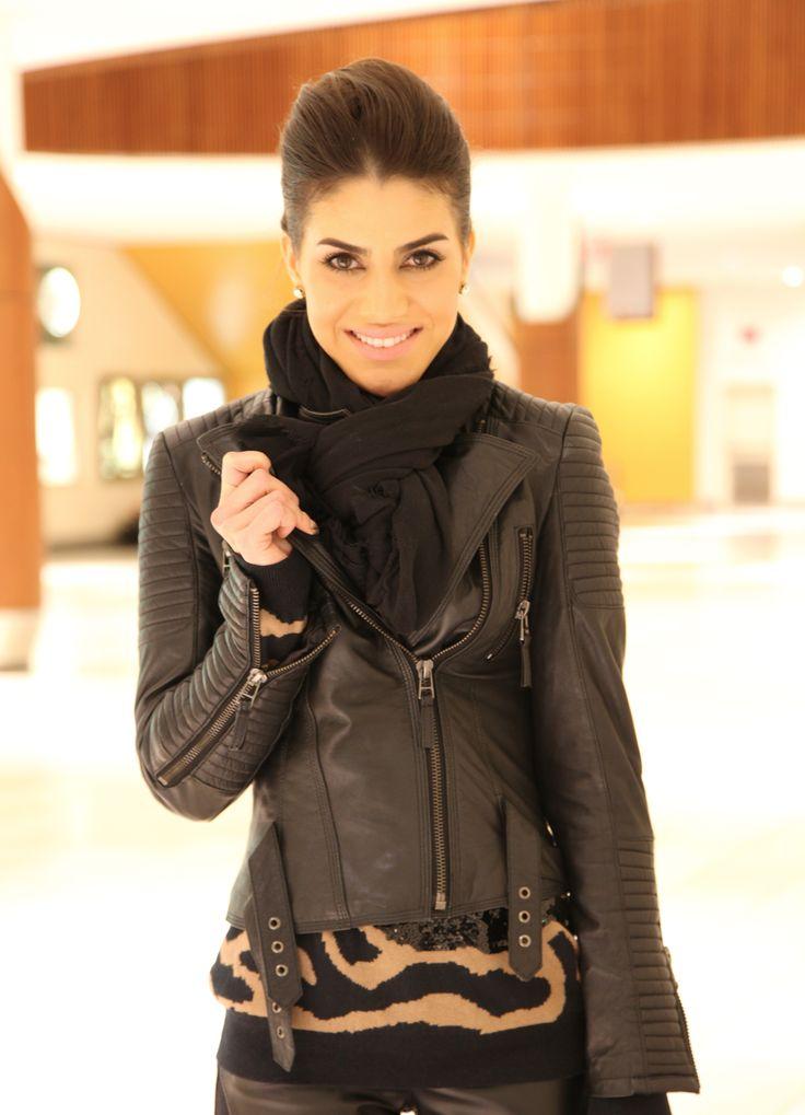 Camila Coelho ;) love the jacket n her style